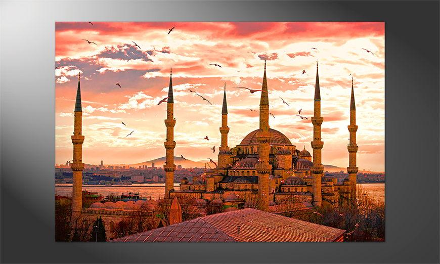 Das Premium Poster Blaue Moschee