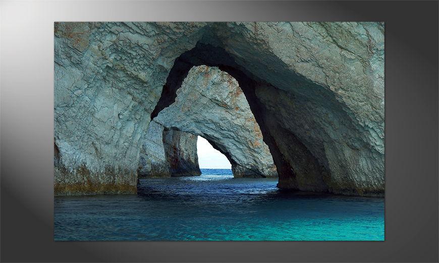 Das Premium Poster Blue Caves