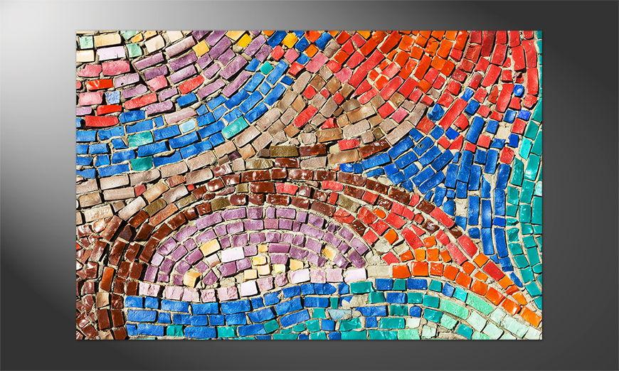Das Premium Poster Colorful Mosaic