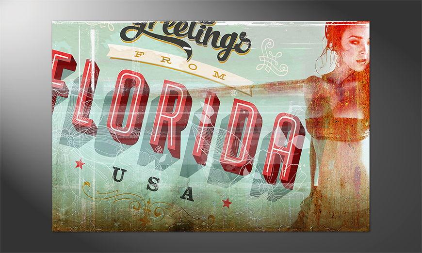 Das Premium Poster Florida Girl