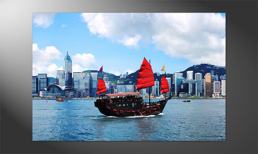 Das Premium Poster Hongkong Boat