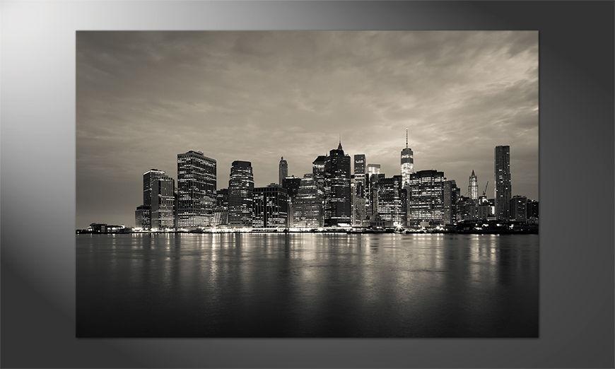Das Premium Poster Manhattan by Night
