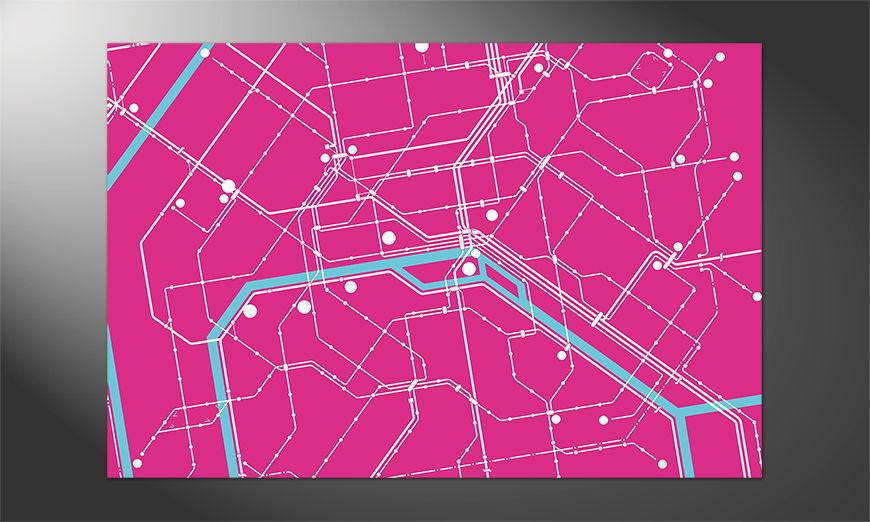 Das Premium Poster Metro Paris