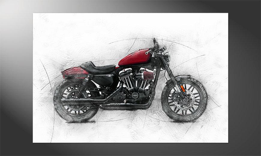Das Premium Poster Motorcycle uno