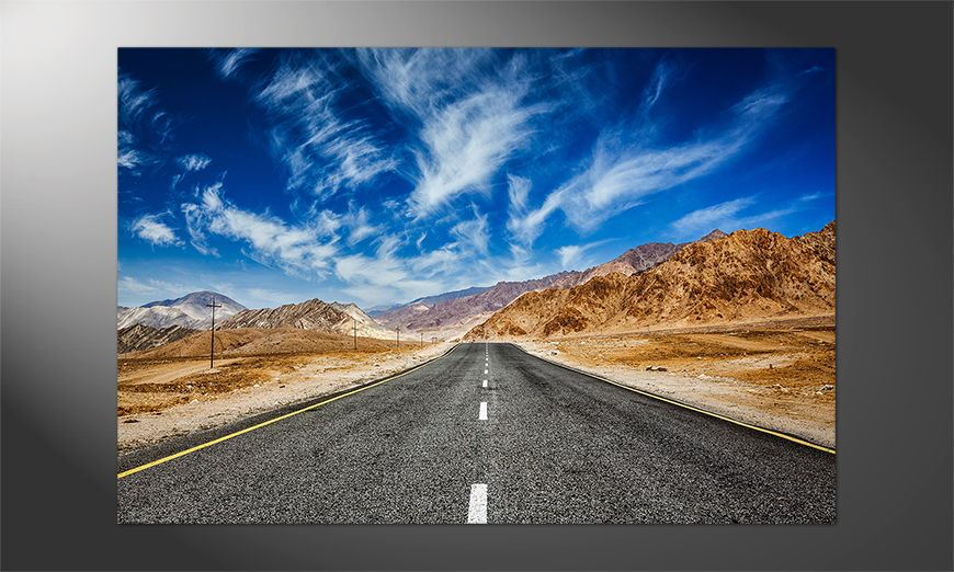 Das Premium Poster Road to Himalaya