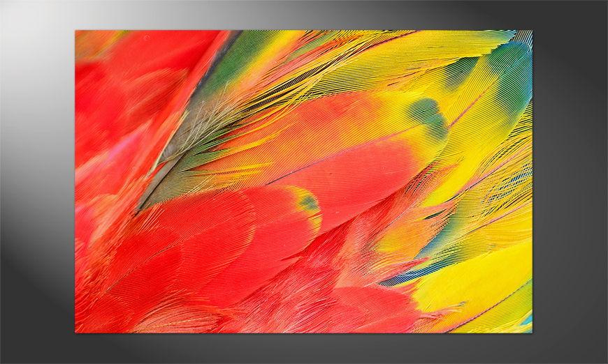 Das Premium Poster Scarlet Macaw