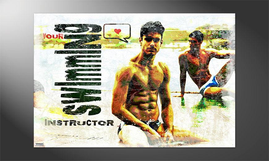 Das Premium Poster Swimming Instructor