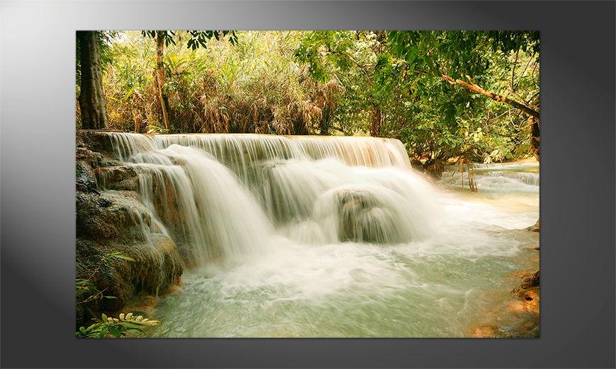 Das Premium Poster Waterfall in the Jungle