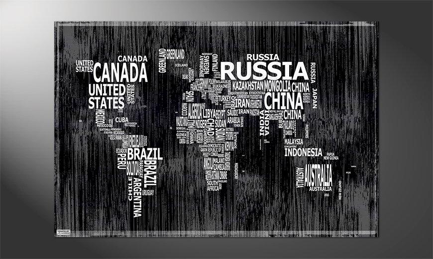 Das Premium Poster Weltkarte Nr13