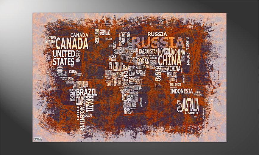 Das Premium Poster Weltkarte Nr19