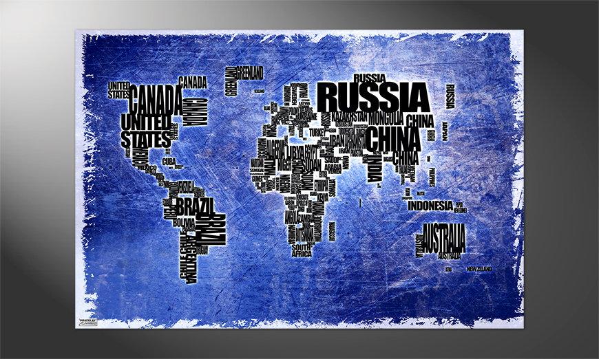 Das Premium Poster Weltkarte Nr2