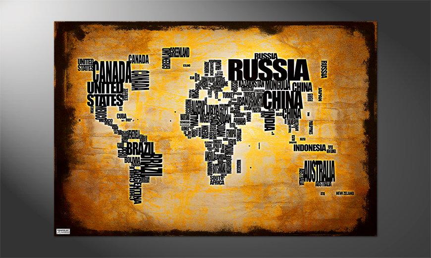 Das Premium Poster Weltkarte Nr5