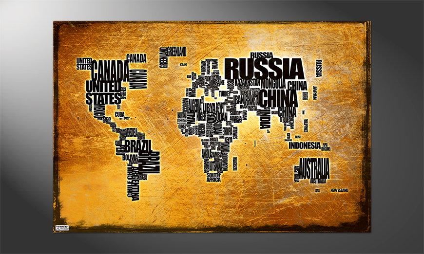 Das Premium Poster Weltkarte Nr6