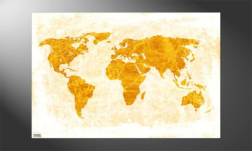Das Premium Poster Weltkarte Nr7