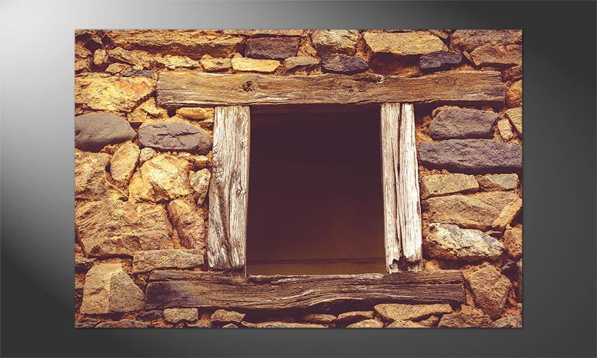 Das Premium Poster Wooden Window