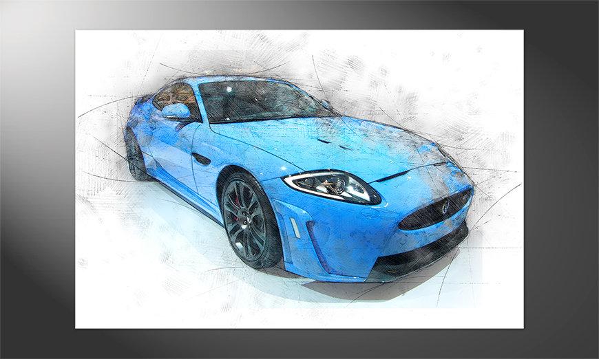 Das brilliante Poster Blue Jag