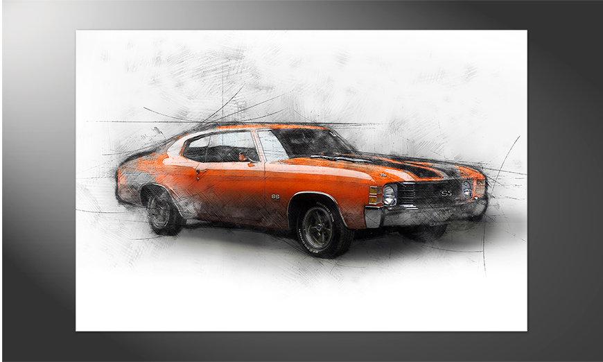 Das brilliante Poster Muscle Car
