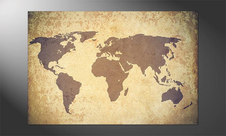 Das bunte Poster Worldmapgrundge