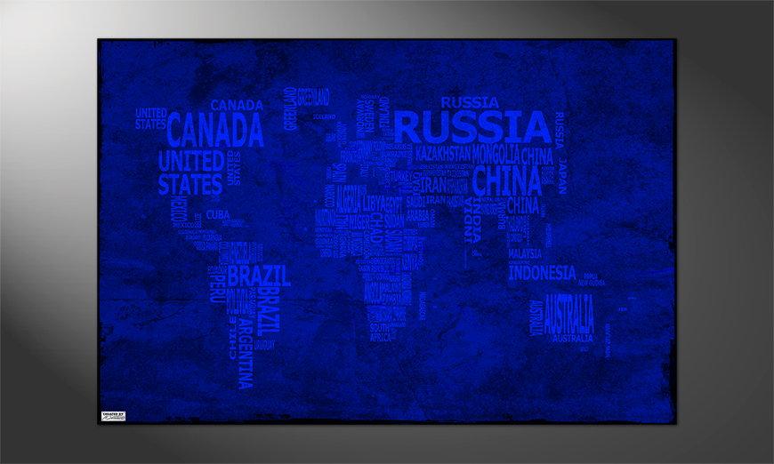 Das dekorative Poster Weltkarte Nr10