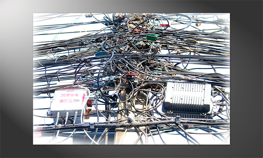 Das gedruckte Poster Cable Chaos
