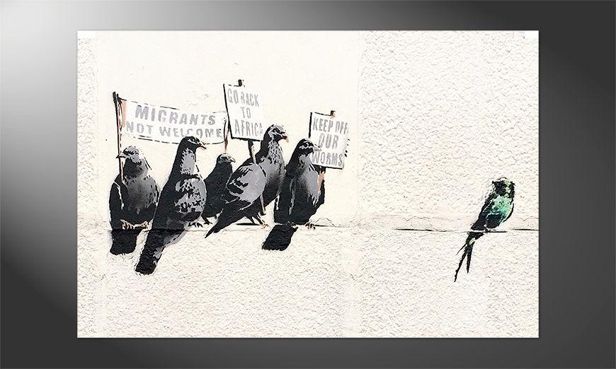 Das gedruckte Premium Poster Banksy No11