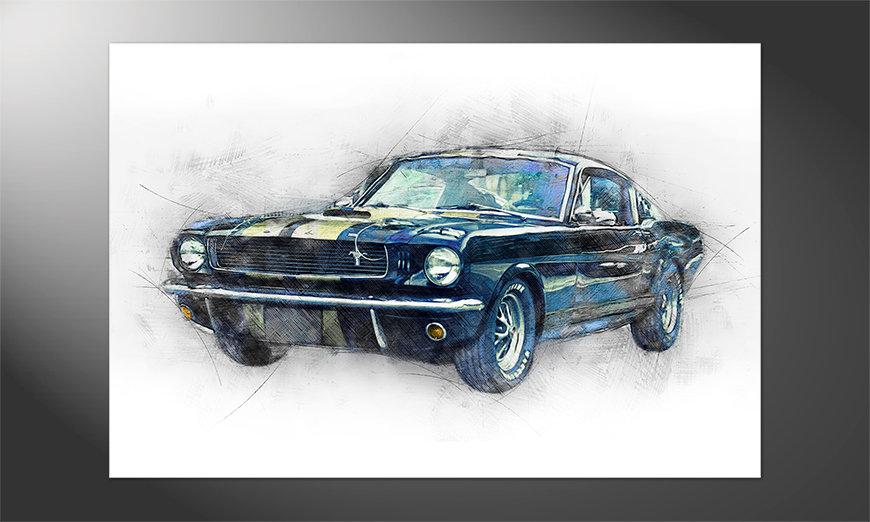 Das hochwertige Poster Black Mustang