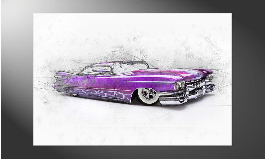 Das hochwertige Poster Pink Cadillac