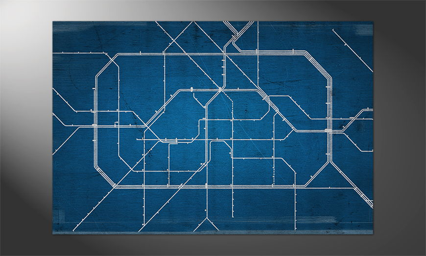 Das moderne Premium Poster Berlin Metro