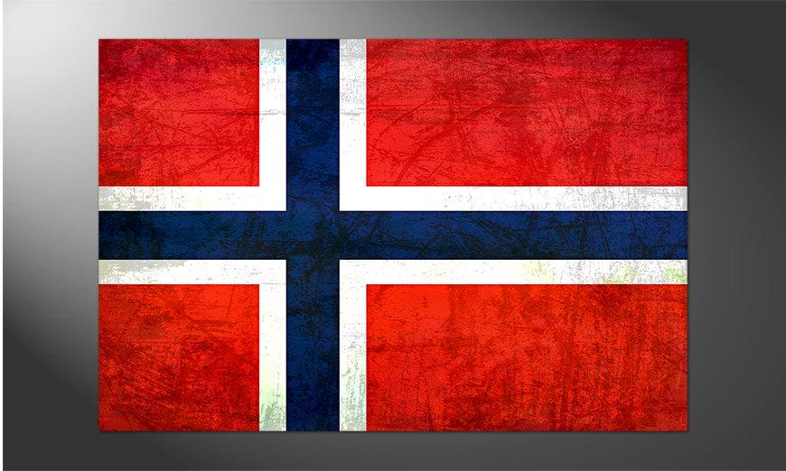 Das schöne Poster Norwegen