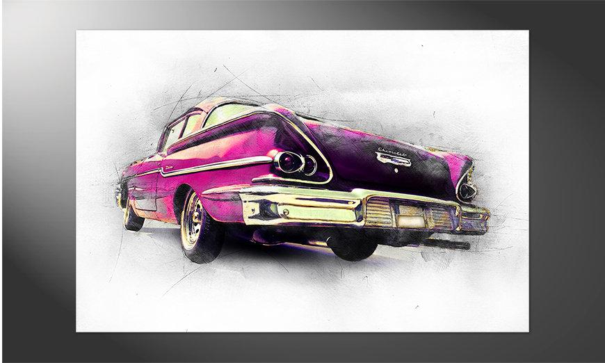 Das schöne Poster Pink Chevrolet