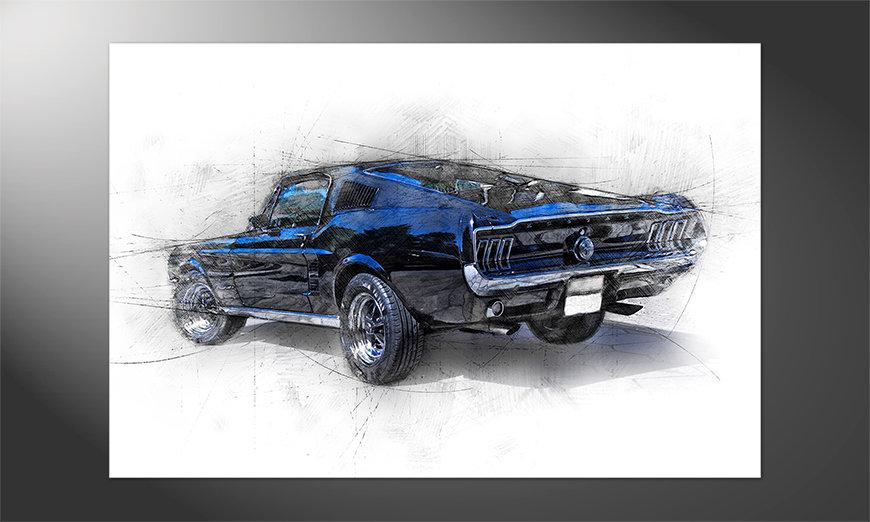 Das schöne Poster Pure Mustang