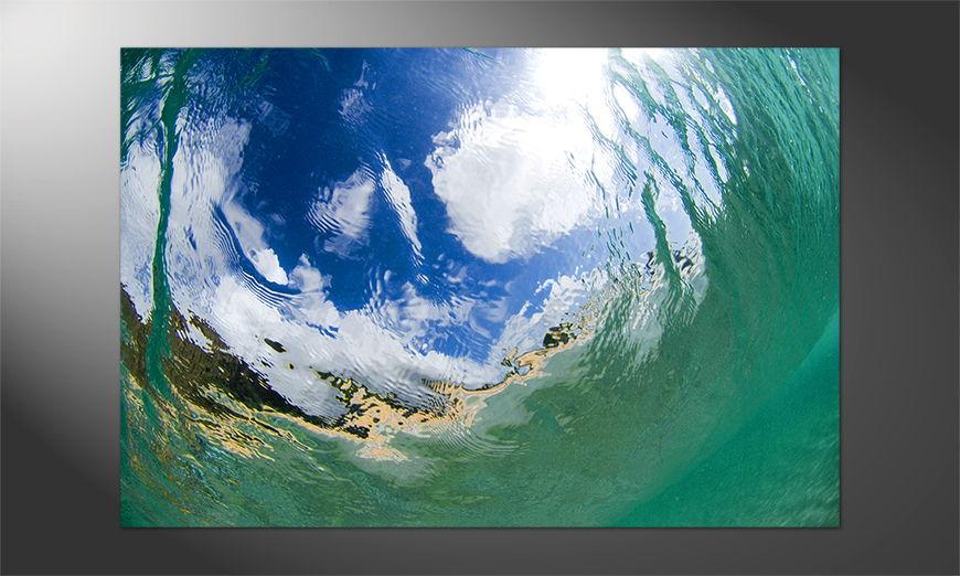 Das schöne Premium Poster Underwater Sky