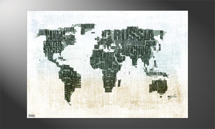 Das schöne Premium Poster Weltkarte Nr1