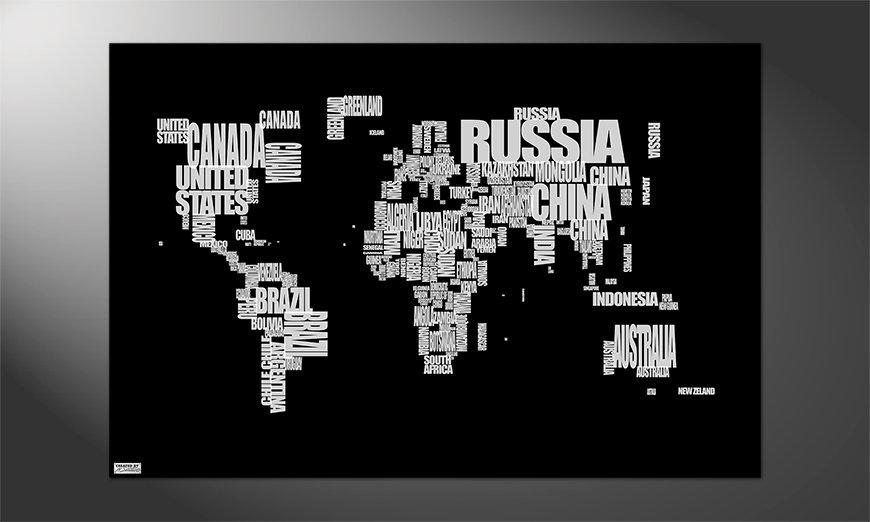 Das schöne Premium Poster Weltkarte Nr14