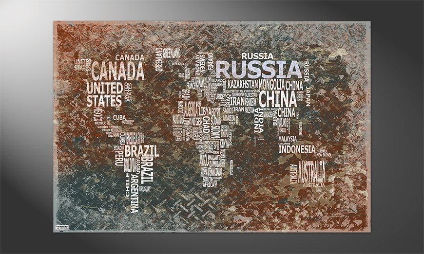 Das schöne Premium Poster Weltkarte Nr8