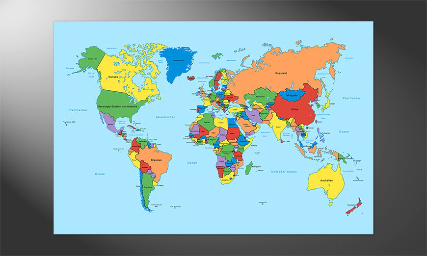 Das schöne Premium Poster Worldmap classic