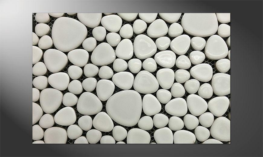 Das stille Premium Poster Mosaic of Stones