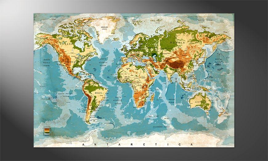Die Welt als Poster: Used Worldmap