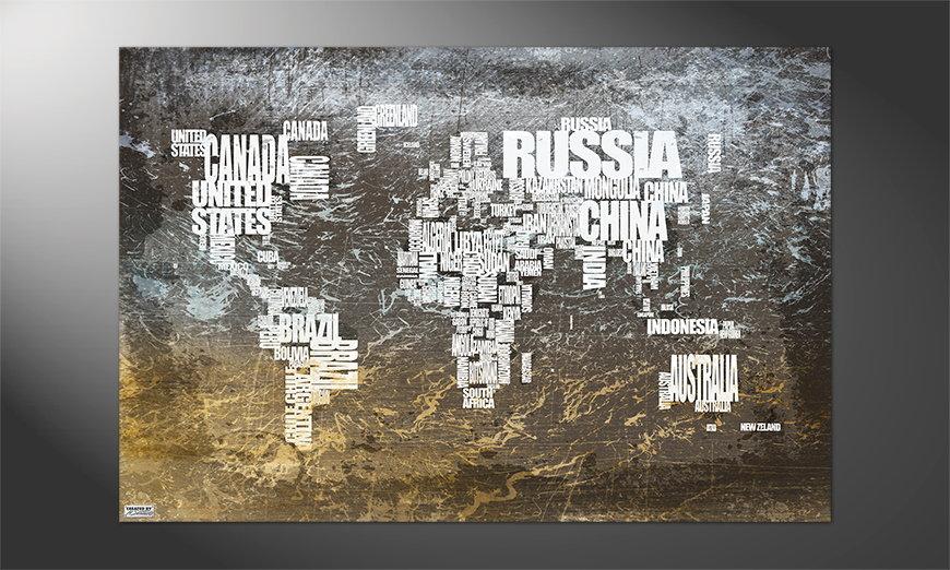 Die Welt an der Wand: Weltkarte Nr20