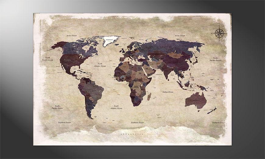 Ihr neues Poster: Old Worldmap Nr3