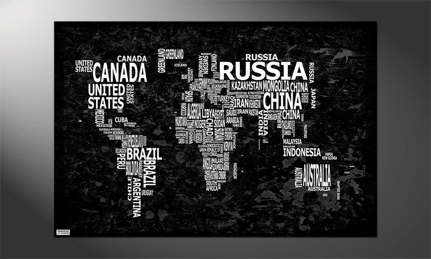 Ihr neues Premium Poster Weltkarte Nr12