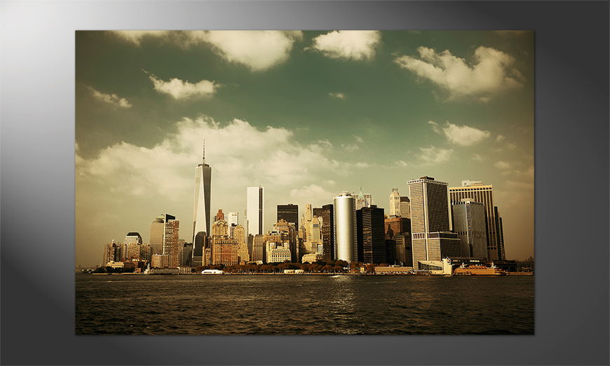 NY als Poster: Manhattan Skyscrapers