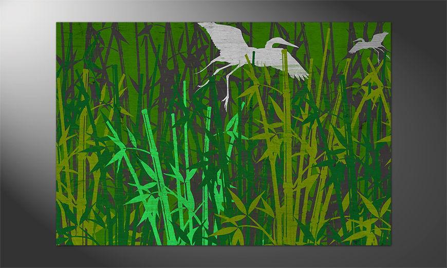 Natur pur: das Poster Bambuswald