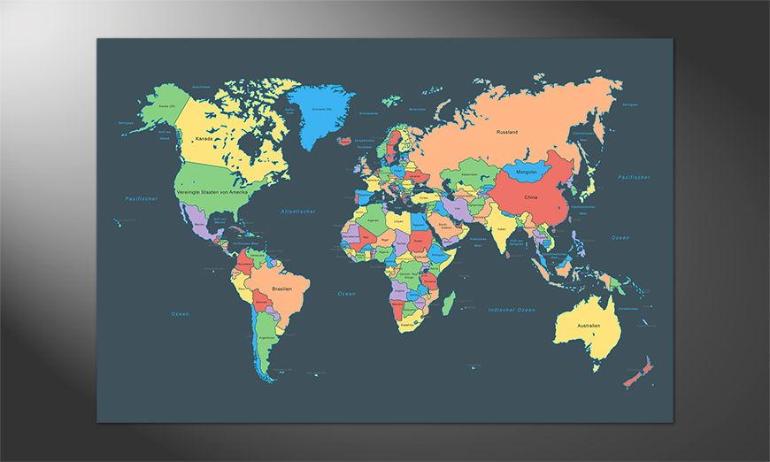 Premium Premium Poster Colorful Map
