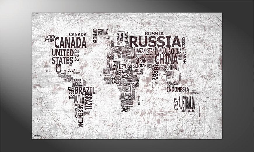 Qualitäts Poster Weltkarte Nr22