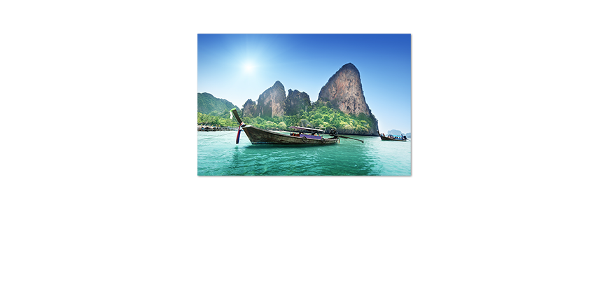 Romantisches-Poster-Boats-in-Bay