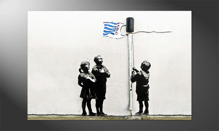 Streetart Premium Poster: Banksy No18