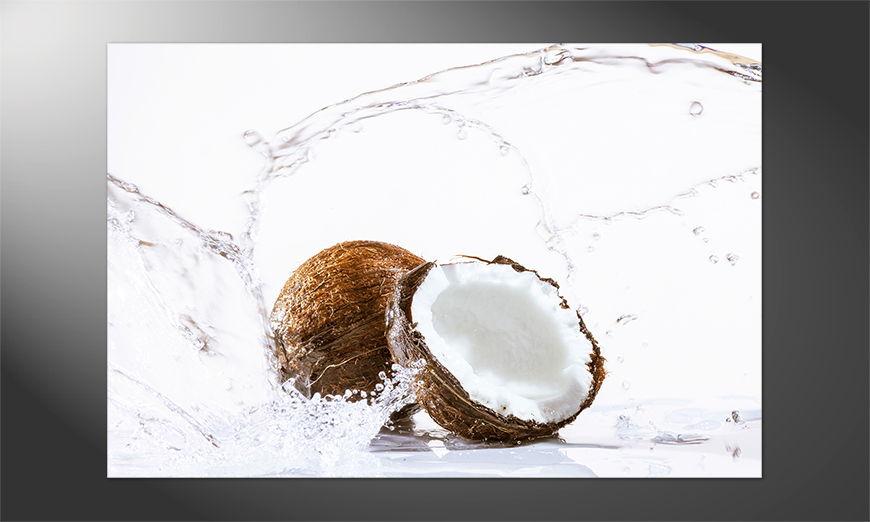 Unser Premium Poster Cracked Coconut