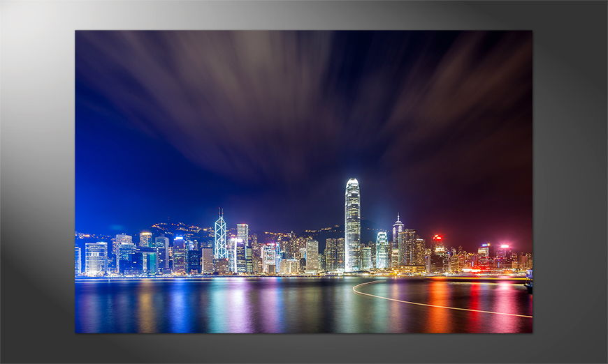 Unser-Premium-Poster-Hong-Kong-at-Night