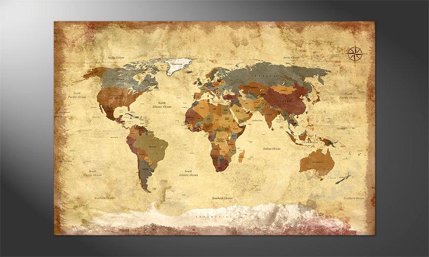 Unser Premium Poster Old Worldmap Nr4